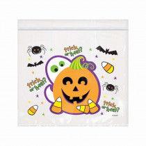 Amscan 6.5 in. x 7 in. Halloween Re-Sealable Cello Bag (30-Count, 3-Pack)