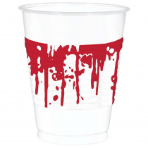 Amscan 4.5 in. x 3.75 in. Halloween Blood Splattered Cups (25-Count, 2-Pack)