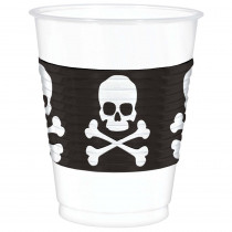 Amscan 4.5 in. Skull and Crossbones Plastic Cup (25 Count, 2-Pack)