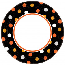 Amscan 6.75 in. x 6.75 in. Halloween Haunt Couture Plate (8-Pack)