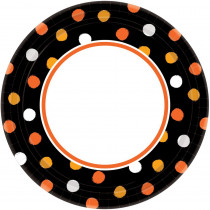 Amscan 10 in. x 10 in. Halloween Haunt Couture Plate (40-Count, 4-Pack)