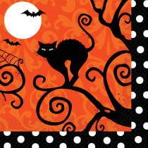Amscan 5 in. x 5 in. x Halloween Frightfully Fancy Beverage Napkin (36-Count 3-Pack)