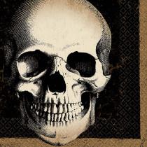 Amscan 5 in. x 5 in. Halloween Skull Beverage Napkin (125-Count )