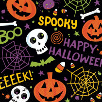 Amscan 5 in. x 5 in. Spooktacular Beverage Napkins (125-Count)