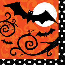 Amscan 6.5 in. x 6.5 in. x Halloween Frightfully Fancy Lunch Napkin (36-Count, 3-Pack)