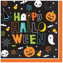 Amscan 6.5 in. x 6.5 in. Paper Halloween Friends Lunch Napkins
