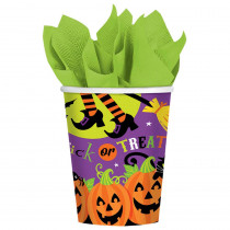 Amscan 3.75 in. Witch's Crew 9 oz. Paper Cups (18-Count, 3-Pack)