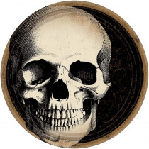 Amscan 7 in. x 7 in. Halloween Skull Plate (60-Count )