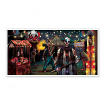 Amscan 33.5 in. x 65 in. Halloween Creepy Carnival Horizontal Banner (5-Pack)