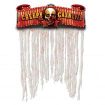 Amscan 54 in. x 38 in. Halloween Creepy Carnival Doorway Curtain (2-Pack)