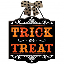 Amscan 12 in. x 11.75 in. Halloween Trick or Treat Sign (4-Pack)