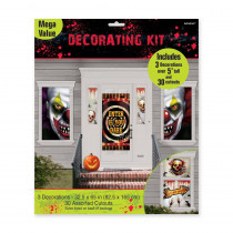 Amscan 65 in. Halloween Creepy Carnival Scene Setter Mega Value Decorating Kit