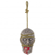 Amscan 11 in. Halloween Zombie Hanging Head Prop