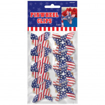Amscan 2.25 in. x 2.5 in. American Flag Pinwheel Clips (8-Count, 5-Pack)