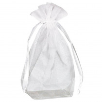 Amscan 4 in. H x 5.5 in. D Everyday White Organza Bags with Flat Bottoms 12-Count (3-Pack)