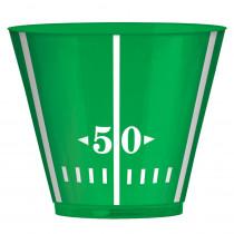 Amscan 3.5 in. x 3 in. 9 oz. Football Field Plastic Tumblers