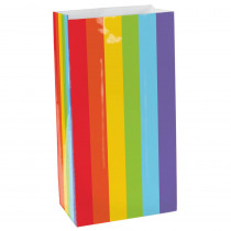 Amscan 10 in. x 5.25 in. Rainbow Paper Bags (12-Count, 9-Pack)