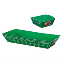 Amscan 5 in. x 1.5 in. Football Field Paper Food Trays