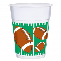 Amscan 3.75 in. x 4.5 in. 16 oz. Football Plastic Cups