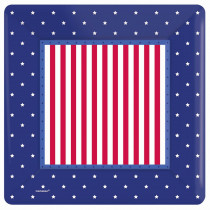Amscan 10 in. x 10 in. American Classic Square Paper Plate (8-Count, 5-Pack)