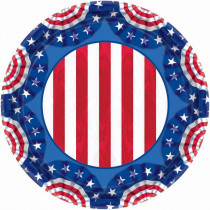 Amscan 7 in. x 7 in. American Pride Paper Plates (60-Count)