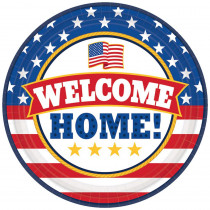 Amscan 7 in. x 7 in. Welcome Home Round Paper Plate (18-count, 3-Pack)