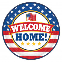 Amscan 9 in. x 9 in. Welcome Home Round Paper Plate (18-Count, 3-Pack)