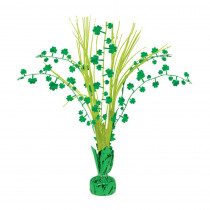 Amscan 12 in. St. Patrick's Day Foil Shamrock Spray Centerpiece (7-Pack)