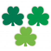 Amscan 2.4 in. St. Patrick's Day Green Paper Shamrock Cutout Assortment (50-Count, 4-Pack)
