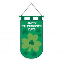 Amscan 19.5 in. x 11 in. Happy St. Patrick's Day Felt Door Banner (3-Pack)