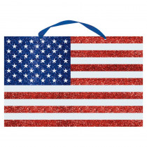 Amscan 13 in. x 20 in. American Flag Glitter Sign (3-Pack)