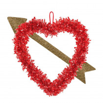 Amscan 14 in. Valentine's Day Heart with Arrow Hanging Decoration (6-Pack)