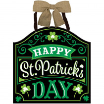 Amscan 12 in. x 11.75 in. Happy St. Patrick's Day MDF Sign (4-Pack)