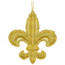 Amscan 14 in. Mardi Gras Gold Foam Fleur de Lis Decoration (2-Pack)