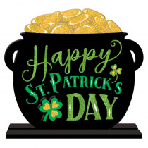 Amscan 11.5 in. x 12 in. St. Patrick's Day MDF Pot of Gold Table Sign (2-Pack)