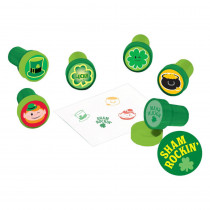 Amscan 1.5 in. St. Patrick's Day Plastic Stamper Assortment (6-Count, 8-Pack)