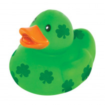 Amscan 1.5 in. St. Patrick's Day Green Rubber Shamrock Duck (20-Pack)