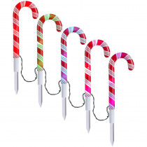 AppLights 18.11 in. LightShow Candy Cane Pathway Stake (1 set of 5)