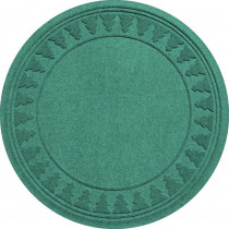 Aqua Shield Aquamarine 35 in. Round Pine Trees Under the Tree Mat