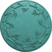 Aqua Shield Aquamarine 35 in. Round Reindeer Run Under the Tree Mat