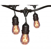 Hampton Bay 12-Light 24 ft. Black Commercial String Light