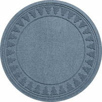 Bungalow Flooring Aqua Shield Bluestone 35 in. Round Pine Trees Under the Tree Mat
