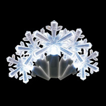 Brite Star 35-Light LED White Snowflake Shaped Light Set