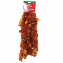 Brite Star 9 ft. Autumn Holographic Maple Leaf Tinsel (Set of 4)