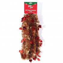 Brite Star 9 ft. Autumn Ochre Maple Leaf Tinsel (Set of 4)