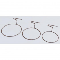 MPG 2.75 in. H Brown Metal Short Fence Small Pot Hanger (Set of 3)