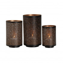 Elements Round Metal Mesh Luminaries (Set of 3)