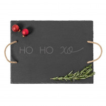 Cathy's Concepts Ho Ho Xo Black Slate Serving Tray