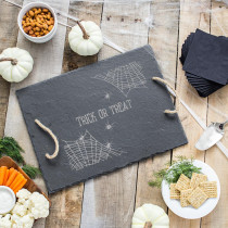 Cathy's Concepts 12 in. Spider Web Halloween Slate Serving Tray