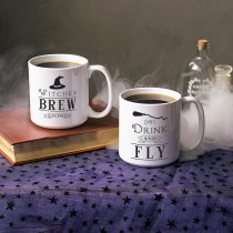 Cathy's Concepts 4.12 in. Witches Brew 20 oz. Halloween Coffee Mug Set